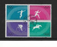 1960 Poland - Rome Olympic Games - Block of Four -  Used and Nicely Cancelled.