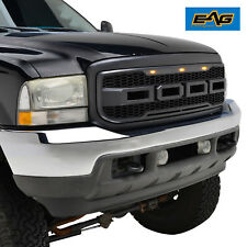 EAG Matte Black ABS Mesh Grille With 3 LED Lights 99-04 Ford F-250/F-350