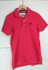 Superdry The Classic Polo Men's Pink Polo Shirt size Medium