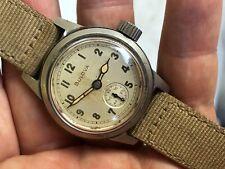 BULOVA 1940's 1917-H  WW2 MILITARY US USA ARMY ORIGINAL DIAL EXCELLENT COND RUNS