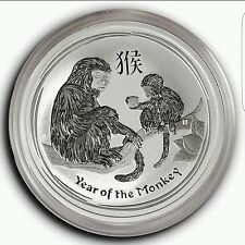 2016 ~ PURE .999 SILVER ~1/2~Z~ YEAR of the MONKEY ~ PERTH MINT CAPSULE ~ $22.88