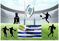 Go Uruguay Rugby Team! World Cup A4 Personalised EASY PEEL PRECUT Icing Sheet