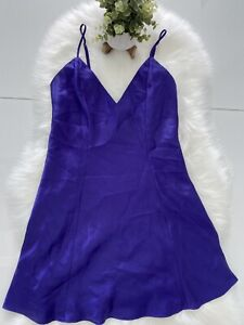 Fredericks Of Hollywood Purple Night Gown Dress Shirt Size M