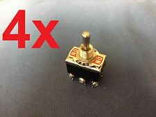 4 Pieces (Black) DPDT momentary switch on/off/on ON)-OFF-(ON) Centre Off