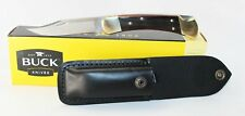 Buck 110 Folding Hunter Lockback Pocket Knife with Leather Sheath 110BRS US Made