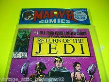 Vtg STAR WARS ROTJ RETURN of the JEDI Marvel Comic Book #1-4 Unopened New
