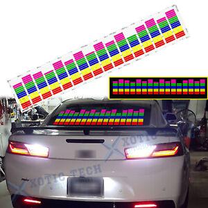 For Chevy Camaro Corvette Rhythm LED Light Car Sticker Sound Activated Equalizer