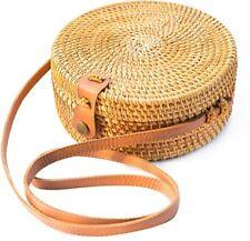 Women Straw Bag Hand Beach Rattan Shoulder Bags Wicker Bag Handbag Crossbody Bag