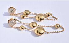Roberto coin Diamant Or Boucles D'Oreilles Disque 18k