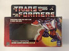 Transformers G1 Vintage 1985 Red Alert Empty Box