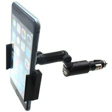 For Galaxy A71 5G Car Mount Charger Holder DC Socket USB Port Cradle Rotating