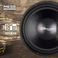 "CT Sounds MESO 18 Inch D2 1500 Watt RMS 18"" Dual 2 Ohm Car Power Bass Subwoofer"