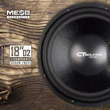 "CT Sounds MESO 18 Inch D2 1500 Watt RMS 18"" Dual 2 Ohm Car Power Bass Subwoofer"
