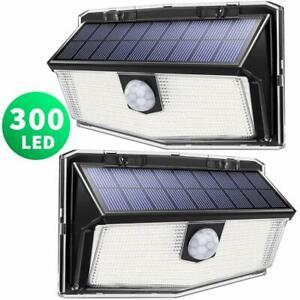 300 LED Solar Lights Outdoor, LITOM Solar Motion Sensor Security Lights with