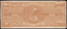 JUNAGADH PRINCELY INDIAN STATE 1Re REVENUE STAMP PAPER CUT-OUT T - 20