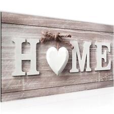 Bild Bilder Wandbild XXL - 100x40 cm Home - Kunstdruck Leinwand Vlies - Wanddeko