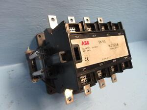 ABB EK-110 Motor Contactor 4-Pole 170 Amp 600V 24V-DC Coil 4P 170A EK110