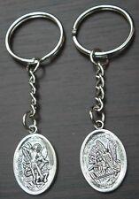 Guardian Angel St Michael Keyring Saint Miguel Key Ring