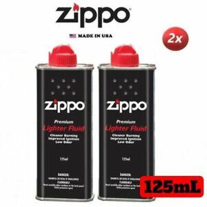 2 Packs Genuine ZIPPO 125ML PREMIUM LIGHTER / HAND WARMER FLUID - MADE IN USA
