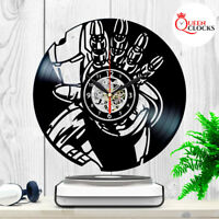 Marvel Iron Man Avengers Vinyl Record Wall Clock Unique Birthday Gifts Decor