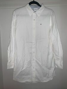 """mens tommy hilfiger """"Swim"""" long sleeve white button up"""