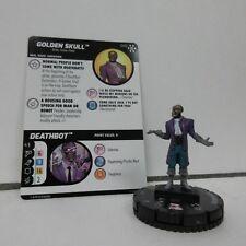 Marvel HeroClix Golden Skull 040 Super Rare Figure & Card B04