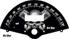 Honda VTX 1300 Custom Speedometer Face Skull & Piston   MPH or KM/H