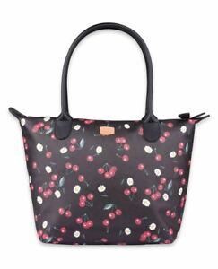 Liquorbrand Daisy Cherry Tote Bag Rockabilly Retro Cherry Large Shoulder Handbag