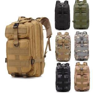 Black MOLLE Bag Rucksack Backpack Camping Hiking Travel School Patrol Used