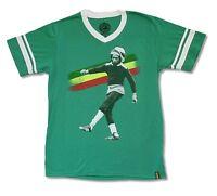 Bob Marley Kick Green V Neck Soccer Jersey Shirt New Official Adult Reggae