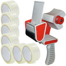 More details for tape gun dispenser + 12 huge rolls of clear 48mm x 66m parcel packing tape