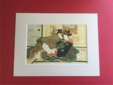 Japanese Reproduction Print  SHUNGA # 3  Erotic Cream Mounted on Parchment Paper