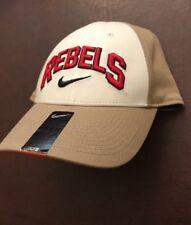 Nike Ole Miss Rebels Verbiage Khaki DRI-FIT Flex Hat Cap NWT