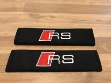 2X Seat Belt Pads Cotton Gifts Audi RS 3 RS 4 RS 5 A1 A3 A4 A5 A6 A7 A8 Sport Q