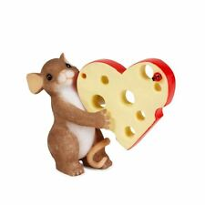 Charming Tails 'It's Little Cheesy I Love You' Mouse & Cheese Figurine, 84154