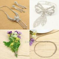 10Yard Crystal Diamante Rhinestone Silver Gold Chain Row Wedding Cake Decoration