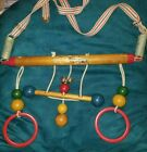 Vtg.Hanging Crib Toy Cradle Gym' Childhood Interest Righttime Toy WOOD-bakelite?