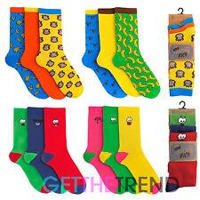 6 Pack Mens Novelty Socks Cotton Rich Funky Sock Men's Tom Franks 7-11 Shoe Sock