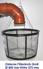 40cm Filter Wasserfilter Siebkorb für Zisternen Erdtank Flachtank Regentank NEU