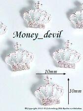 Nageldesign 1 St. 3D Silber Krone Inlay Charm Overlay by money_devil Exklusiv