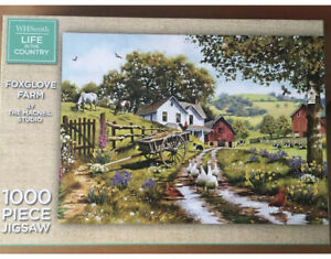 WH Smith Life In The Country Foxglove Farm 1000 Piece Jigsaw Puzzle