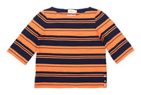 Holly & White Womens Size S Striped Cotton Orange Top (Regular)