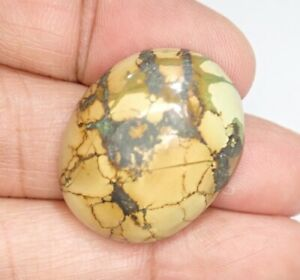 27.95Ct 100% Natural Egyptian Spiderweb Turquoise Cab Original Cabochon Gemstone
