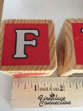 23, Wooden Children's Building Blocks, Letters, and Numbers 1-1/2  Inch Square