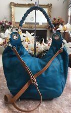 New Barr & Barr New York Blue Pebble Leather Hobo Bag Cross-body Purse MSRP $250