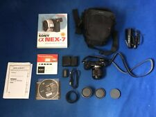 Sony Alpha NEX-7 24.3MP Digital Camera with TWO Lenses * * * MINT * * *