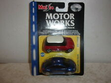 Maisto Motor Works 2 Car Pack - Volkswagen New Beetle/Mini Cooper - 1:64 Scale