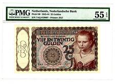 Netherlands ... P-60 ... 25 Gulden ... 1944 ... CH *AU-UNC* PMG 55 EPQ (AU-UNC).