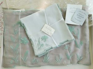 Vintage Unused Marghab Placemat & Napkin Set In Original Marghab Box W/ Inserts