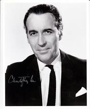 "Christopher Lee - B&W 10""x 8"" Signed 'Studio Pose' Photo - UACC RD223"